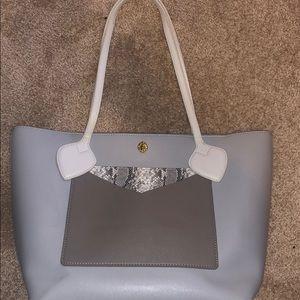 Grey & snake print anne Klein tote purse